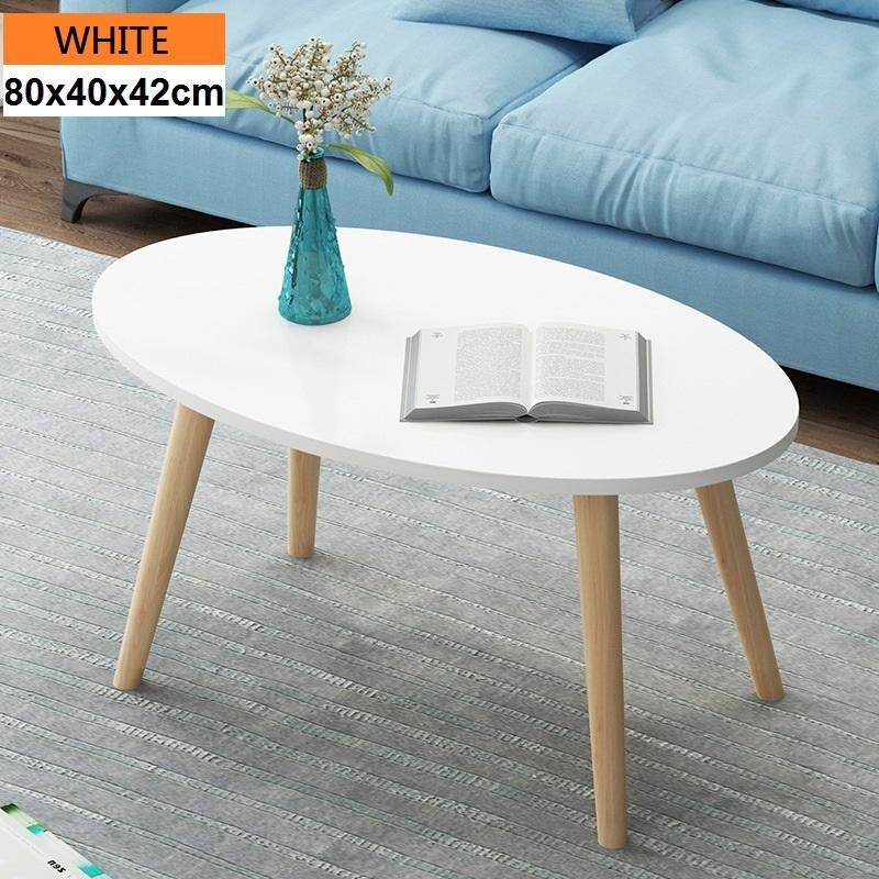Oval Shape Wooden Coffee Table / Living Room Table