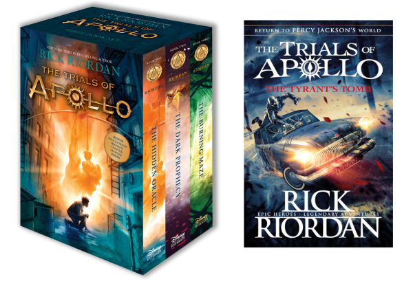 UK Ver. Trials of Apollo Complete Collection of 4 Books by Rick Riordan of Percy Jackson series