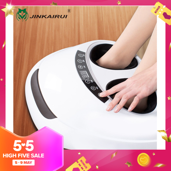 Buy Jinkairui Foot Massager Electric Antistress 3D Kneading Air Pressure Infrared Heating Therapy Singapore