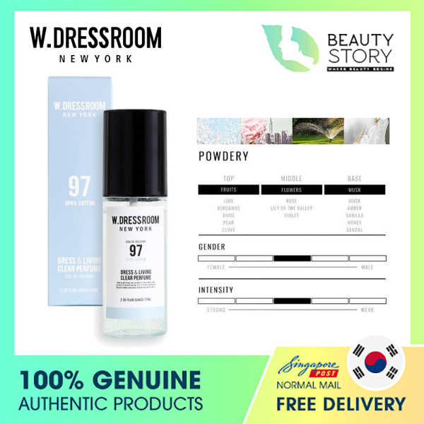 Buy [W Dressroom] W.Dressroom Dress & Living Clear Perfume (No. 97 April Cotton) 70ml - The Beauty Story - Cologne Singapore