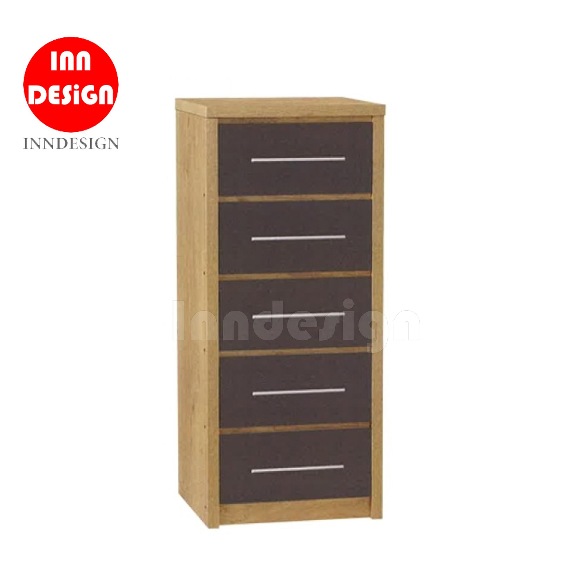 Hatta Chest of 5 Drawer (Free Delivery and Installation) - 3 Colours Available