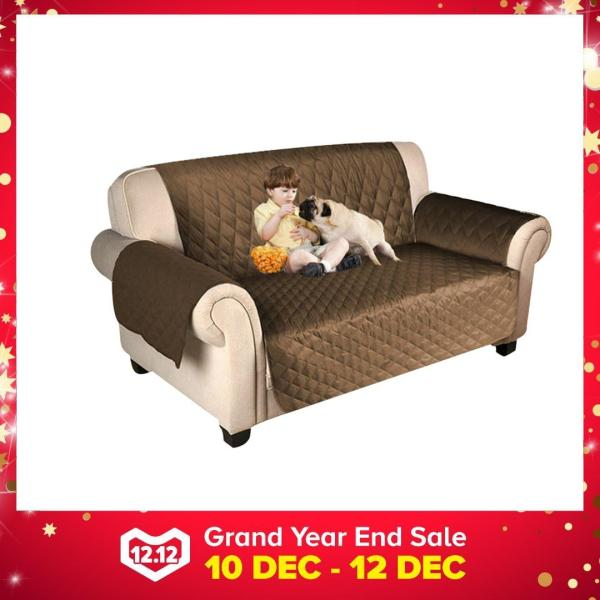 2 Seater/3 Seater Deluxe Seater Elastic Sofa Cover Slipcovers Couch Furniture Protector Pet Sofa Mat - intl