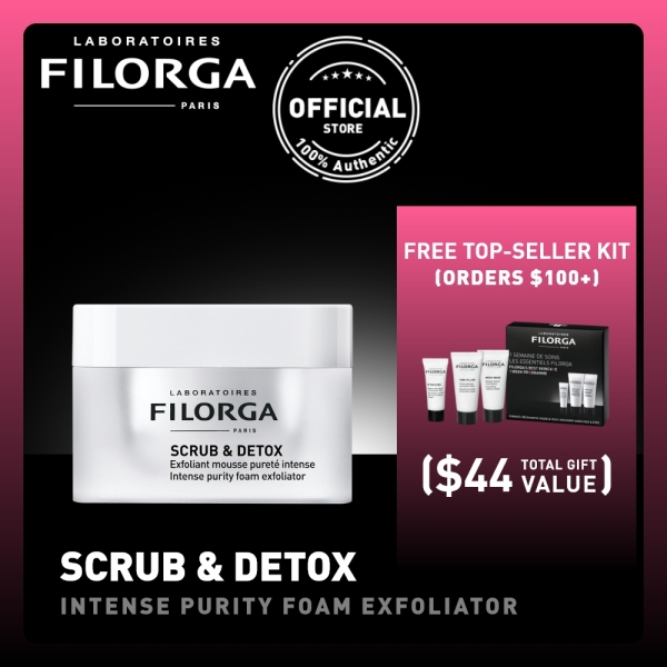 Buy FILORGA SCRUB & DETOX Intense Purity Foam Exfoliator [Exfoliate - Detox - Protect] 50mL Singapore