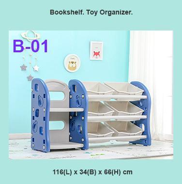 Kids Toy Organizer Bookshelf Toy Rack for Kids and Children (SG Seller)