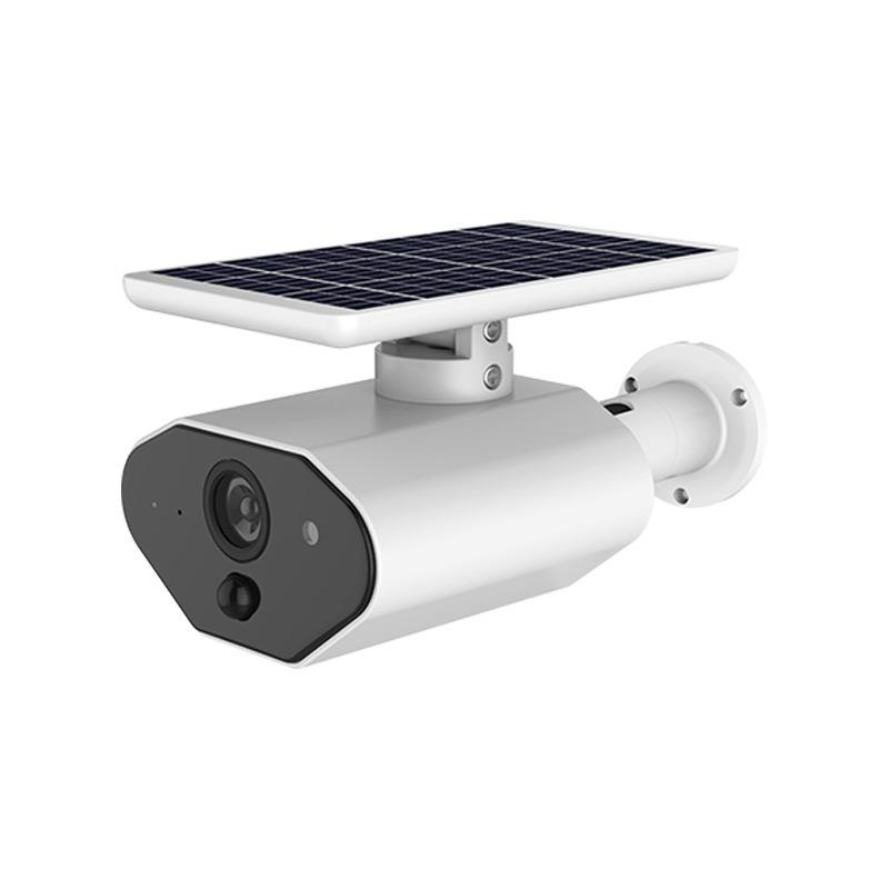 Ip65 Solar Powered Wireless Home Security Camera, Outdoor 2.4Ghz Wifi Ip Camera With Motion Detection Night-Vision, Wire-Free Surveillance Camera Built In Battery