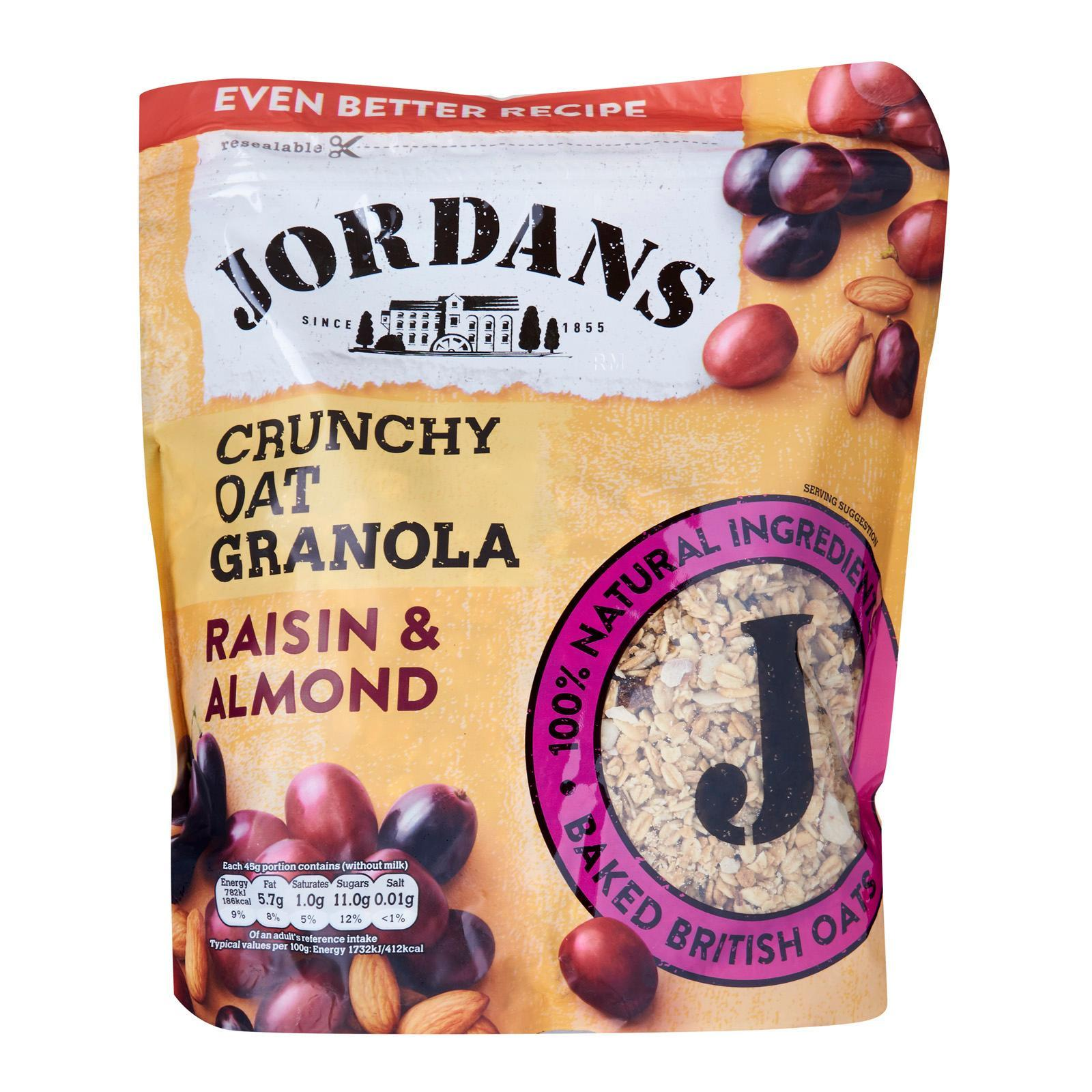 Jordans Crunchy Oat Raisin And Almond Granola