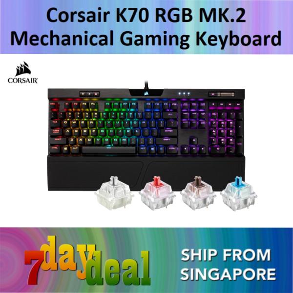 Corsair K70 RGB MK.2 / MK 2 Mechanical Gaming Keyboard — CHERRY MX Speed (Rapidfire) / Red / Brown / Blue Singapore