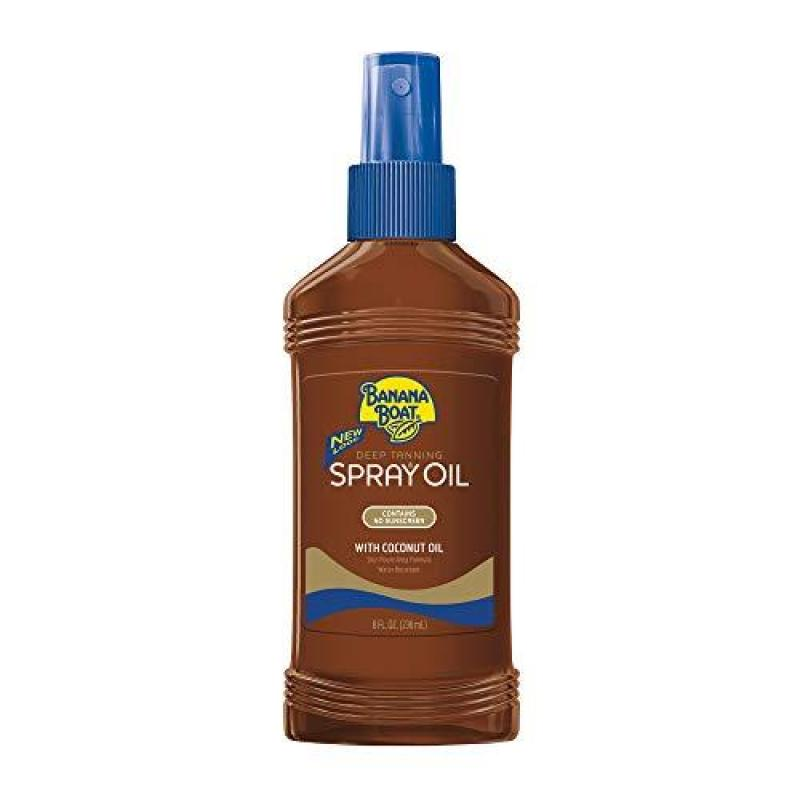 Buy Banana Boat Deep Tanning Oil Spray with Carrot and Banana Extracts - 8 Ounce (Pack of 3) Singapore
