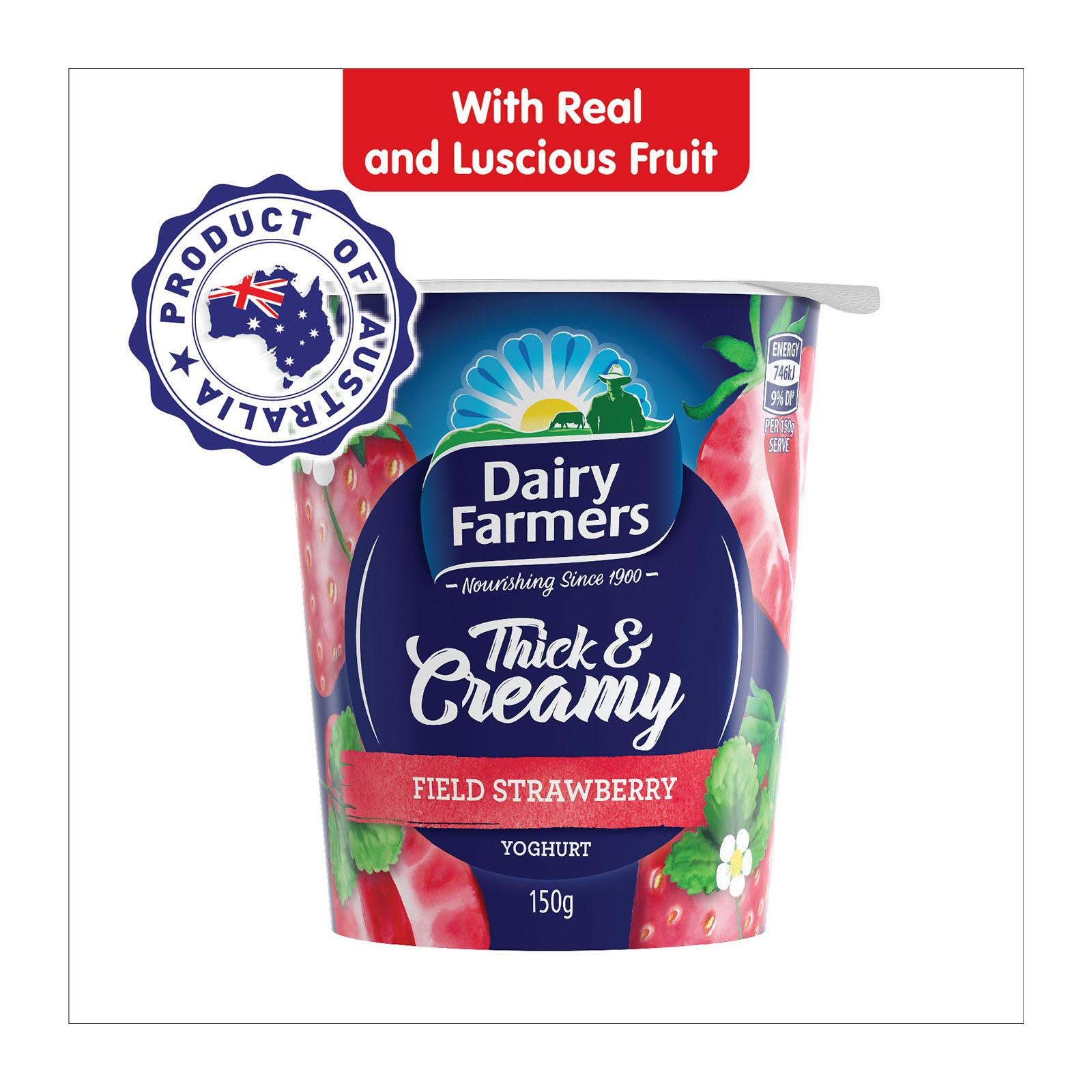Dairy Farmers Thick And Creamy Strawberry Yog