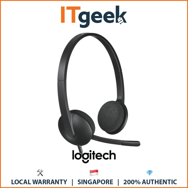 (Express Delivery) Logitech H340 USB Computer Headset with Noise Cancellation Singapore
