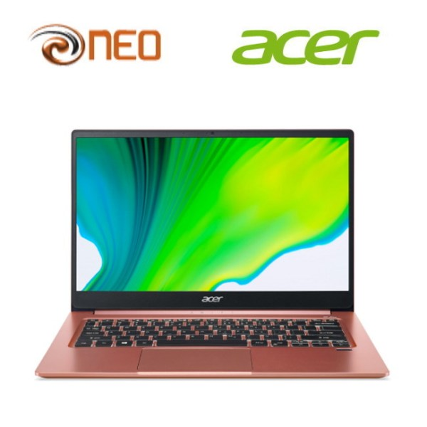 Acer Swift 3 SF314-59-50MC (Pink) laptop with LATEST 11th gen Intel i5-1135G7 processor and Intel Iris Xe Graphics