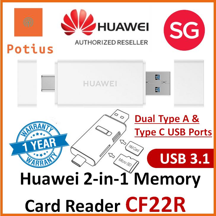 Huawei 2-in-1 Memory Card Reader, Huawei CF22R Micro SD & NM Card / Nano  Memory Card Reader DUAL PORT