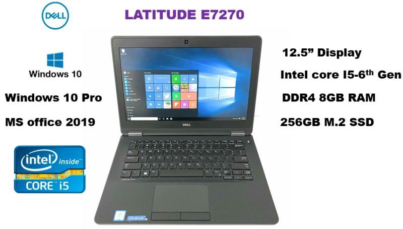 Dell Latitude E7270 12.5inch i5 6th-Gen 8GB Ram, 256GB SSD , Windows10 pro, MS office