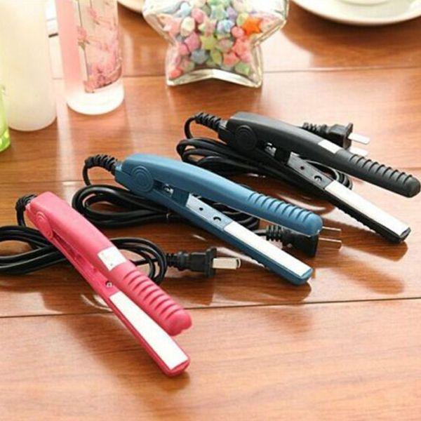 UGAINVI Gốm sứ Ionic Máy ép tóc Tấm nhỏ Tạo kiểu Gốm sứ Chất lượng cao Tạo mẫu tóc Thanh nẹp sắt Bàn là Máy duỗi tóc