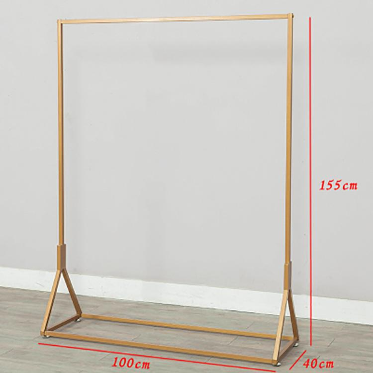 Northern Europe Iron art gold Clothing Shop Clothes Display Shelf 58 Simple Landing Clothes Rack Side Clothes Hanger