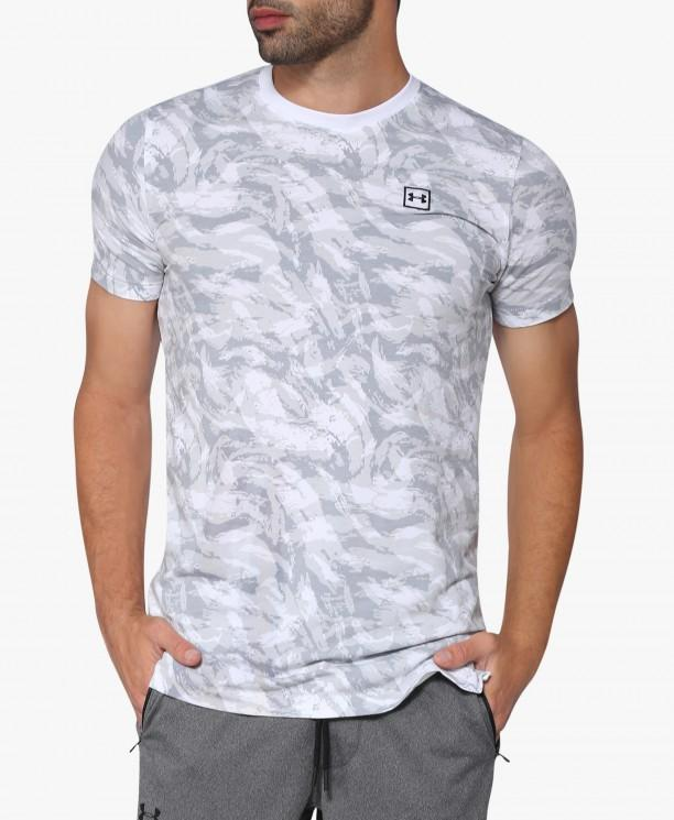 6b78dabd59 Singapore. UA AOP Sportstyle Printed Short Sleeve T-shirt - Men (White)  1305671-
