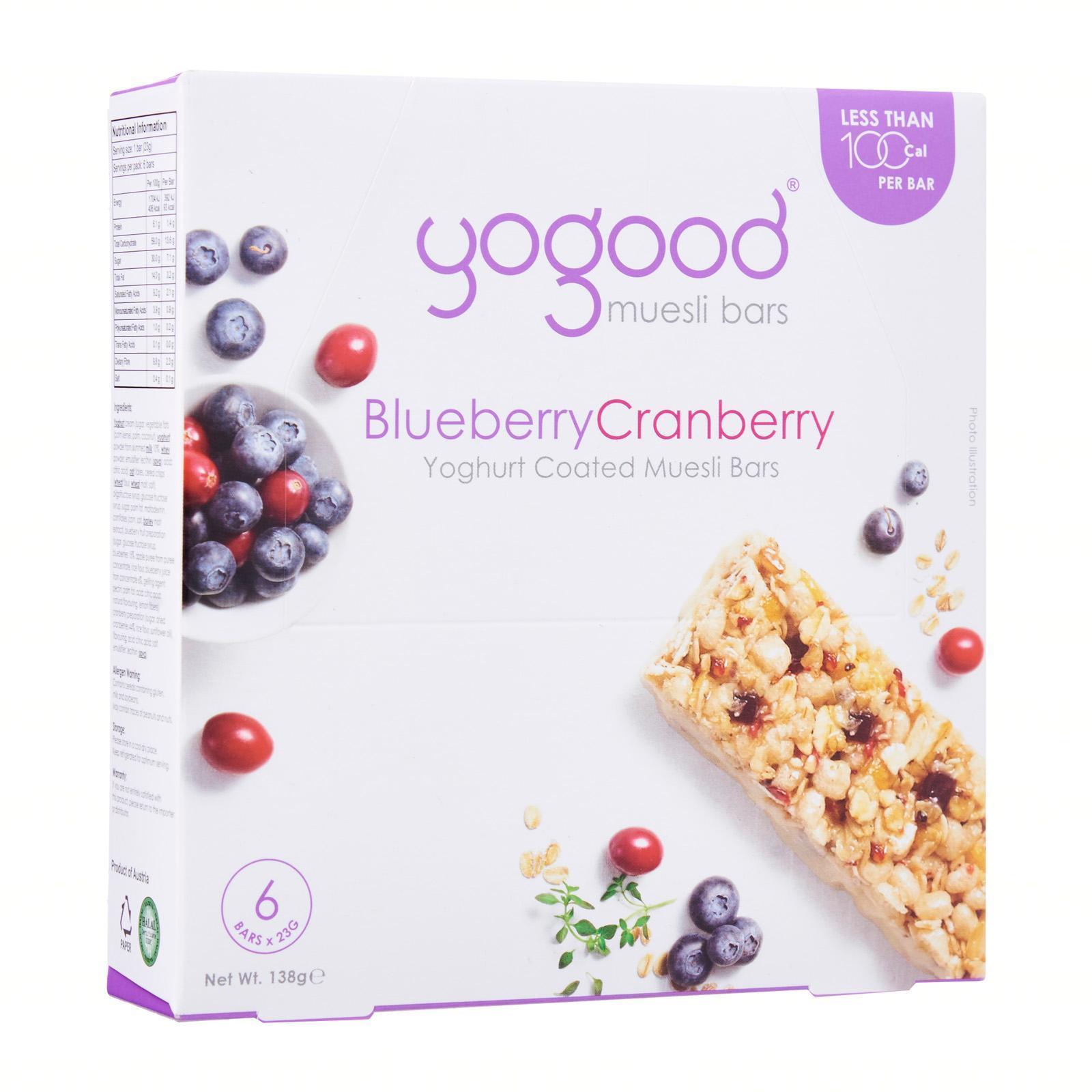 Yogood Blueberry Cranberry Muesli Bars