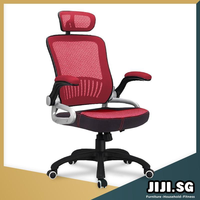 (JIJI SG) Office chair Executive Chair Ver 3 Movable ArmRest (Free Installation) - (Home Office Chair) Office chairs /Study chair/Gaming chair/Ergonomic/ Free 6 Months Warranty (SG) Singapore