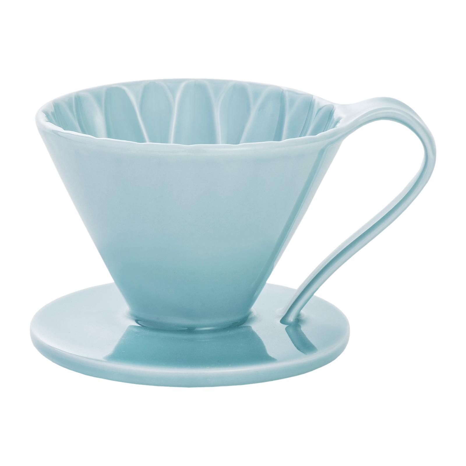 CAFEC Cone-shaped Flower Dripper (Blue) for 2-4 Cups