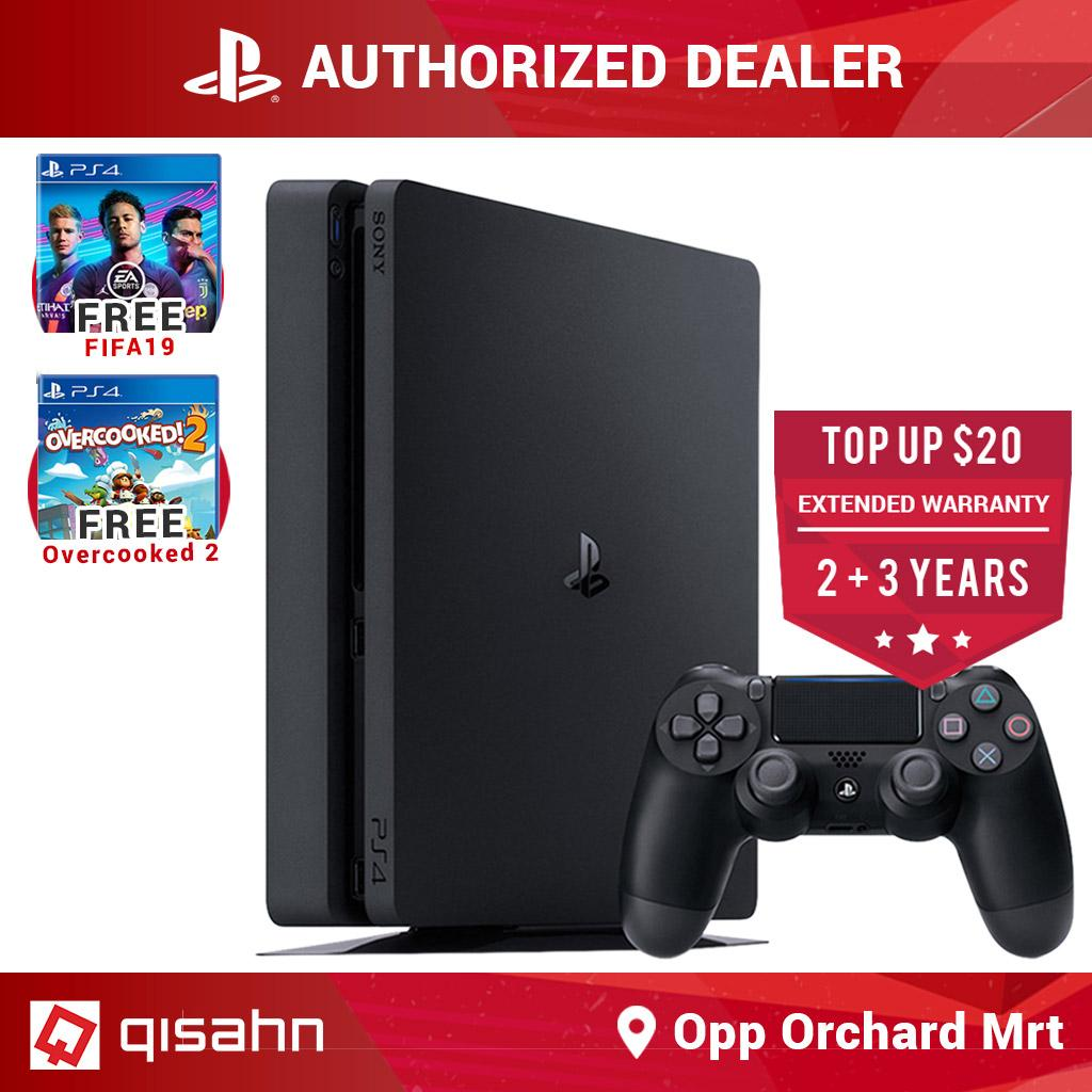Sony PS4 Playstation 4 Slim Console Starter Pack Bundle (+FIFA 19, +Overcooked 2)