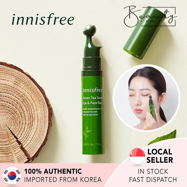 Buy [In Stock] INNISFREE Green Tea Seed Eye & Face Ball Eye Cream 10ml Singapore
