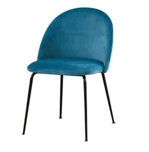 JIJI (Ivona Dining Chair in Velvet) (Free Installation) / Dining Chair / Nelex Fabric / 6 Month Warranty / (SG)