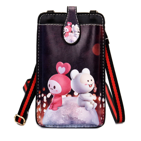 A Mobile Phone of Small Bag 2020 Korean Style New Style Fashion Summer Cute Shoulder Bag Girls Mini Cartoon Mobile Phone Package