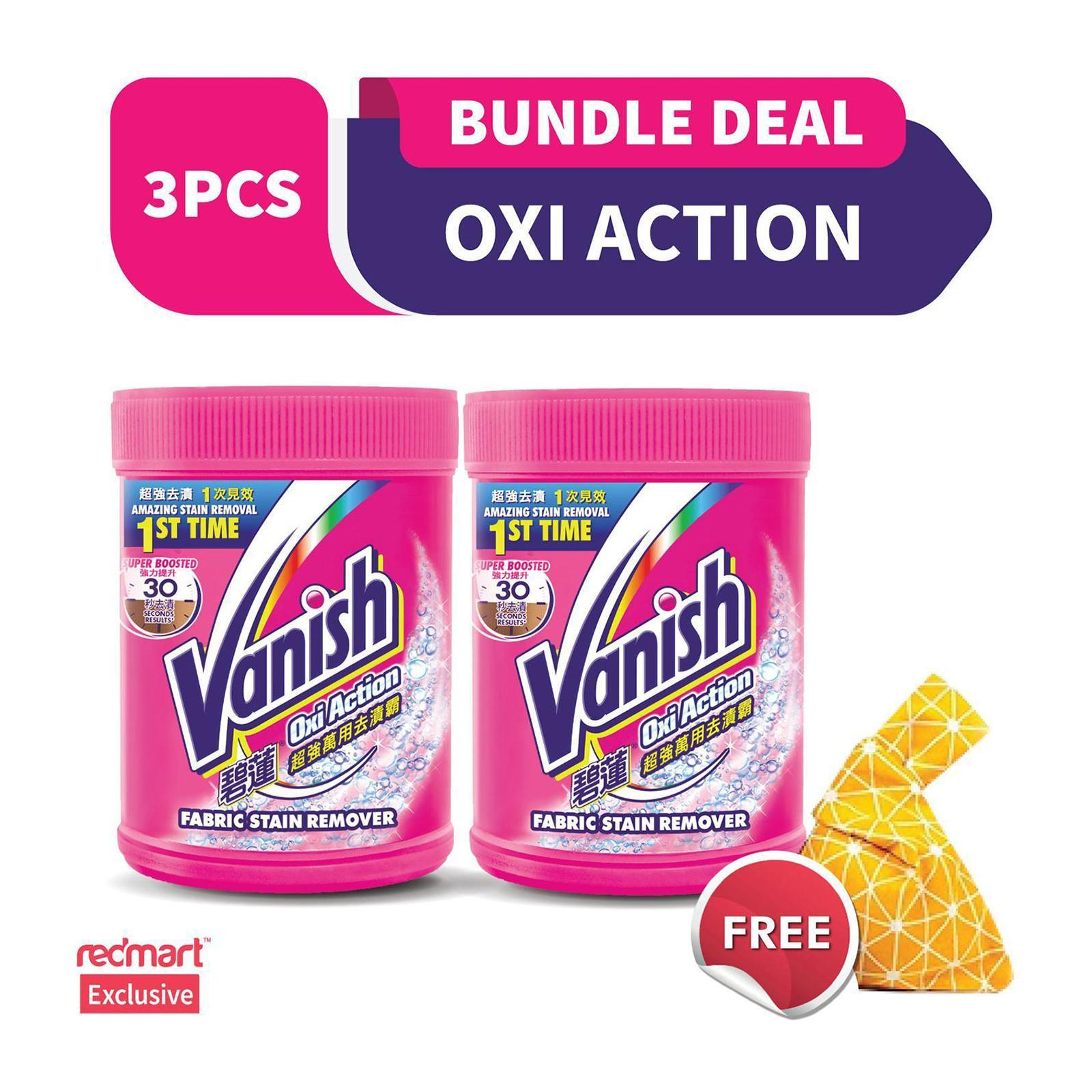 Vanish Power Oxi-Action Laundry Fabric Stain Remover 1.8 KG - Free 120G Bundle Pack