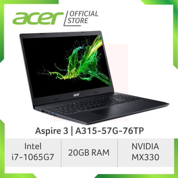 Acer Aspire 3 A315-57G-75RU/76TP (Blue/Black) Laptop with 10th Gen Intel Core i7-1065G7 processor and 20GB RAM