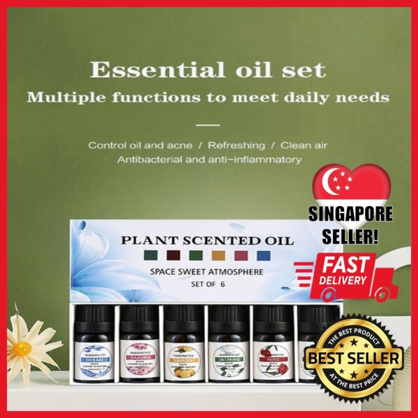Buy [Ready Stocks in SG!] Water Soluble Oil For Diffuser 10ml Aromatherapy Essential Oil Scented Oil Humidifier - Box Of 6 Singapore