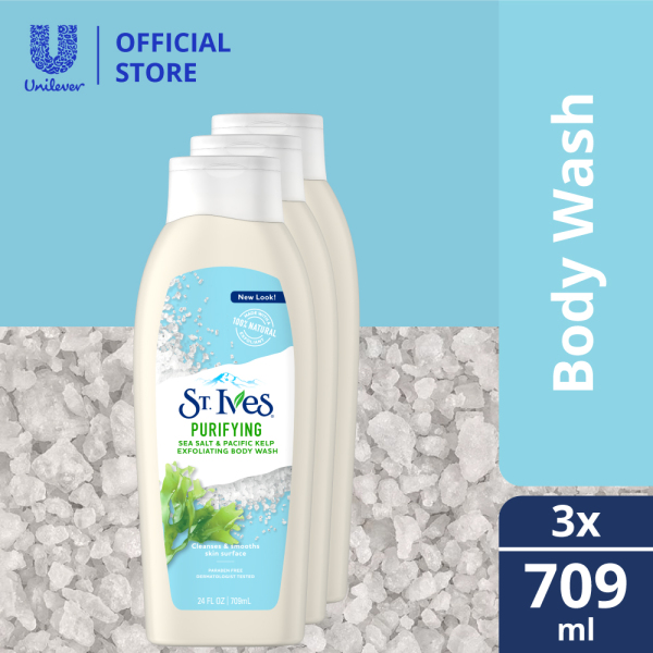 Buy (Pack of 3) St.Ives Purifying Sea Salt & Pacific Kelp Body Wash 709ml Singapore