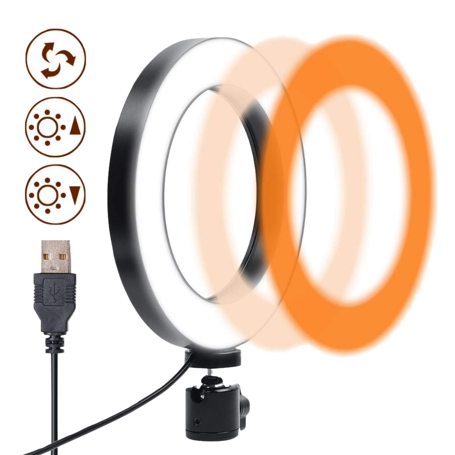 Niceeshop 3 Lights Mode Led Ring Light, Dimmable Plastic 6.3 Inches Usb Beauty Rejuvenation Soft Light For Makeup,live Streaming,youtube Video Shooting,photography Lighting By Nicee Shop.