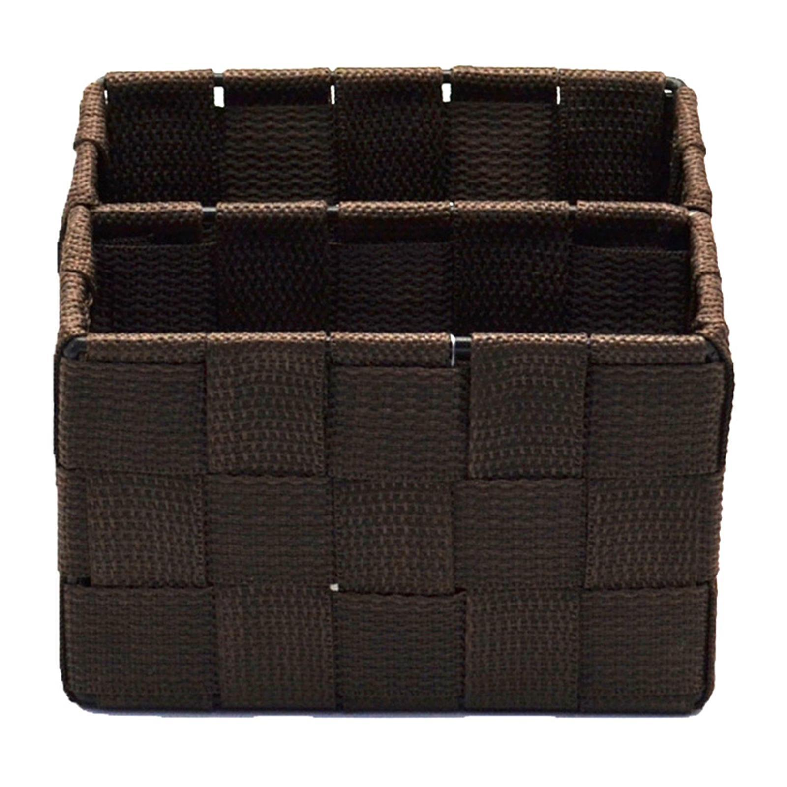 Suzanne Sobelle -Remote Control Holder(S)-14.5x10x8.5-11.5-Dark Brown PP Woven Home Organiser