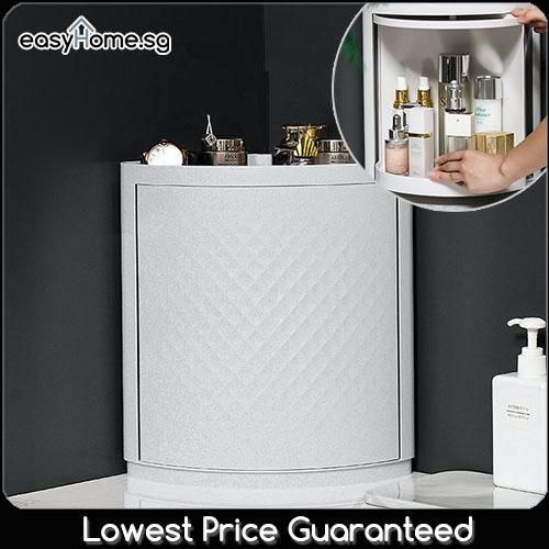 Corner Storage Cabinet HX518 816S 816L / Bathroom Toilet Toiletry Makeup Cosmetic Organizer Rack Shelf