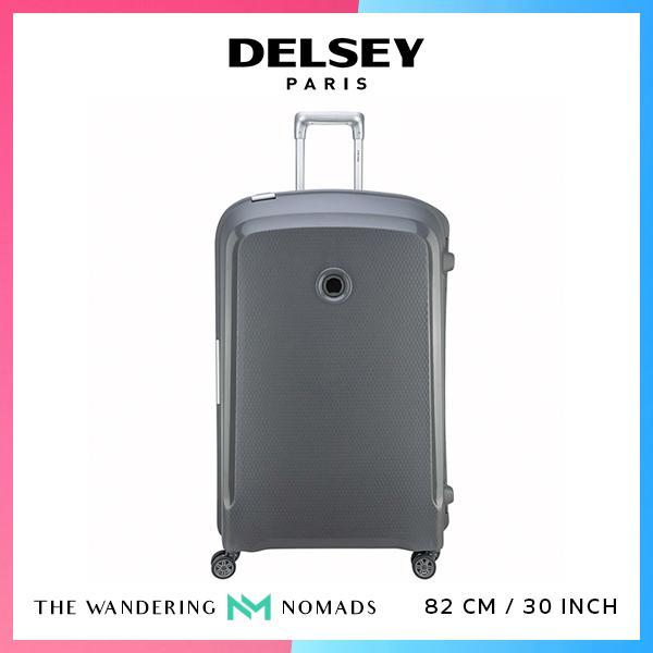 Delsey Belfort Plus 82cm 4 Double Wheels Trolley Case Luggage 30inch - Grey