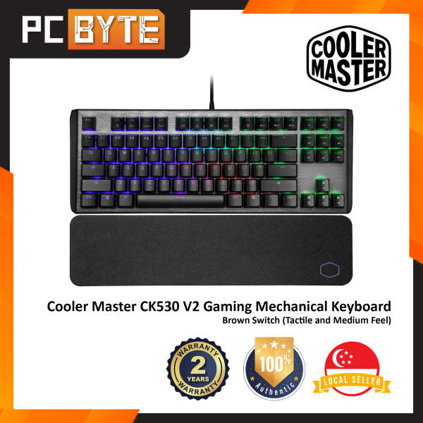 Cooler Master CK530 V2 - Gaming Mechanical Keyboard (TKL, RGB Backlight) Singapore