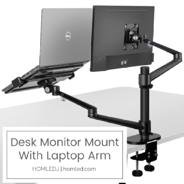 [READY STOCKS; Fast Local Shipping] Desk Monitor Mount with Laptop Stand