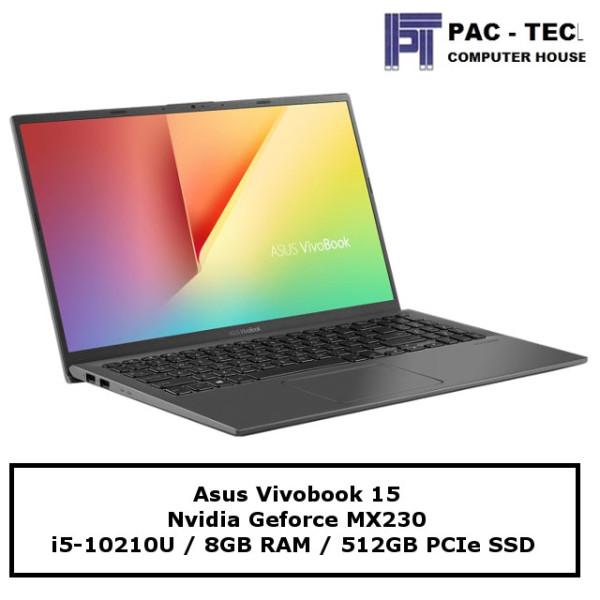 [Ready]Asus Vivobook 15 X512FJ / i5-10210U / 15.6 FHD / 8GB RAM / 512GB SSD / MX230 /1 Year Warranty