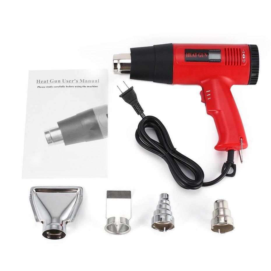 FCU 866A 1800W LCD Display Electric Hot Air Gun Thermoregulator Heat Gun