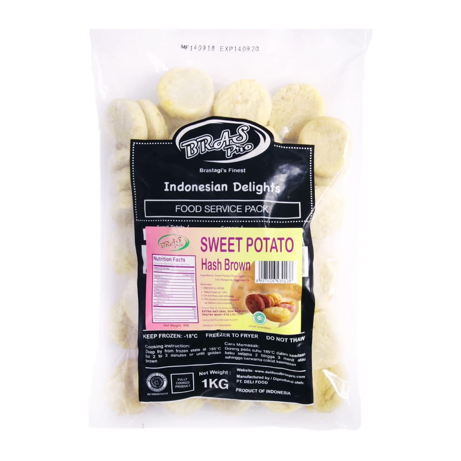 Pastry Mart Extra Natural Frozen Sweet Potato Hashbrown - Approx. 50pcs By Redmart.
