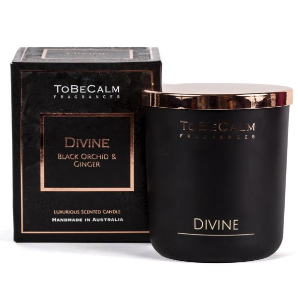 To Be Calm Divine- Black Orchid & Ginger - Deluxe XXL  Soy Candle
