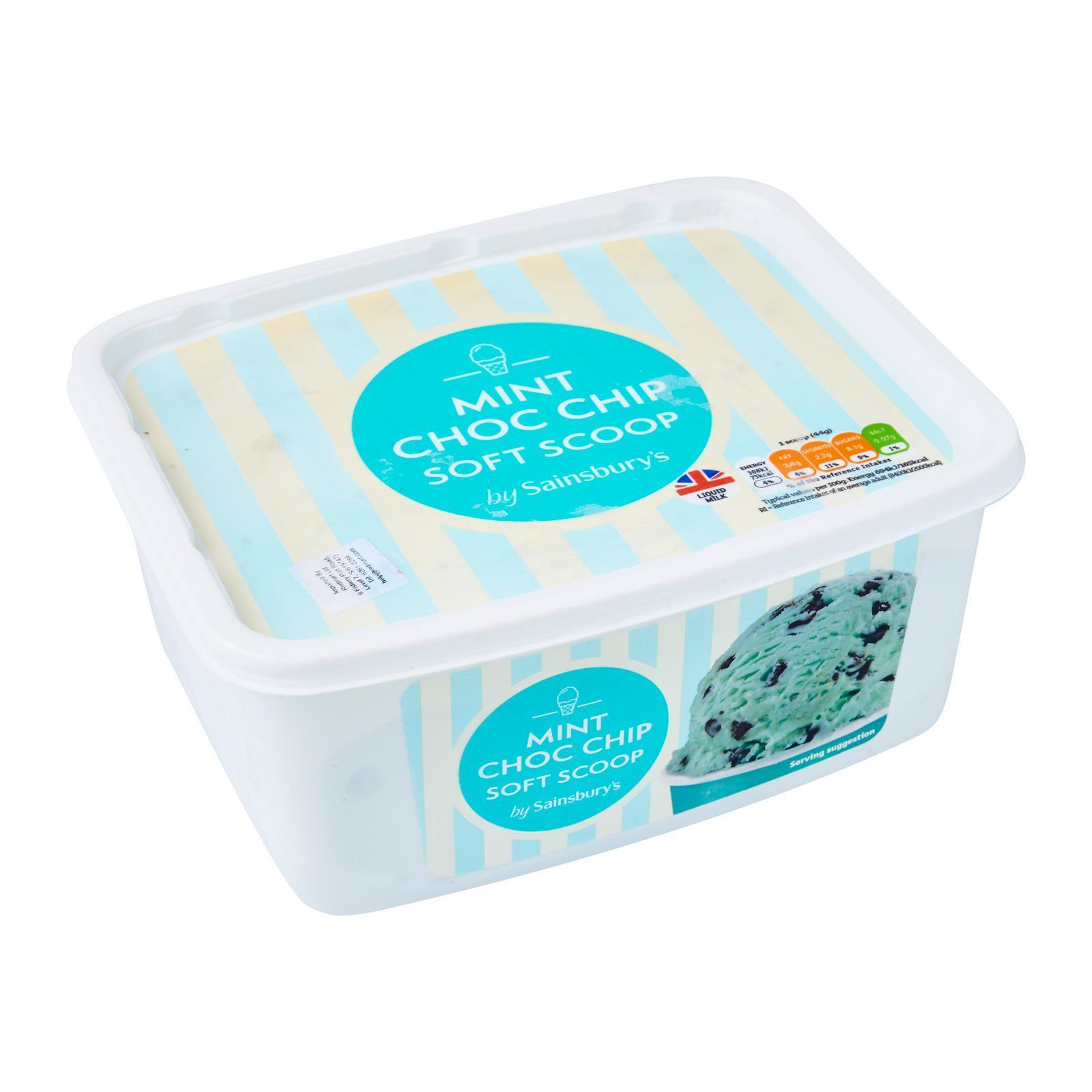 Sainsbury's Mint Choc Chip Ice Cream - Frozen