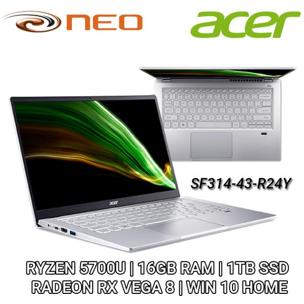 Acer Swift 3   SF314-43-R24Y With Ryzen 7 5700U   16GB RAM   1TB SSD  RADEON RX VEGA 8   WIN 10 HOME 2 Years Warranty