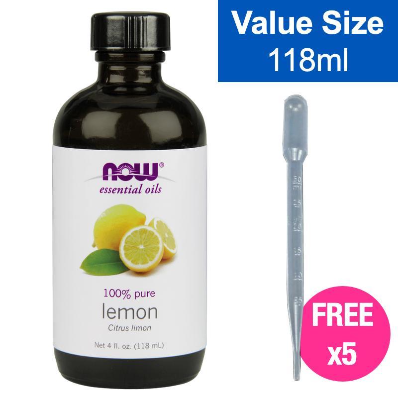 NOW Lemon Essential Oil 100% Pure 118ml