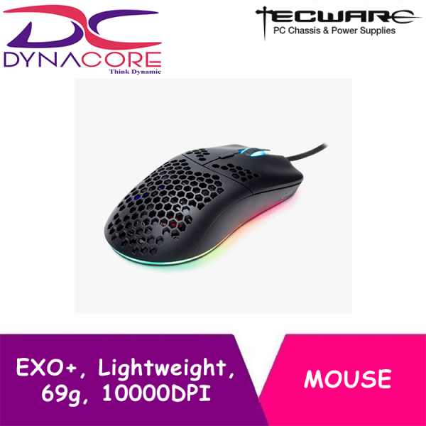 DYNACORE - Tecware EXO+, Lightweight Gaming Mouse, 69g, 10000DPI