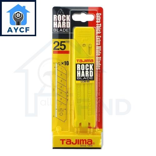 (FOR REFILL) TAJIMA Rock Hard Blade (10Pcs) - 25mm Blade LCB65