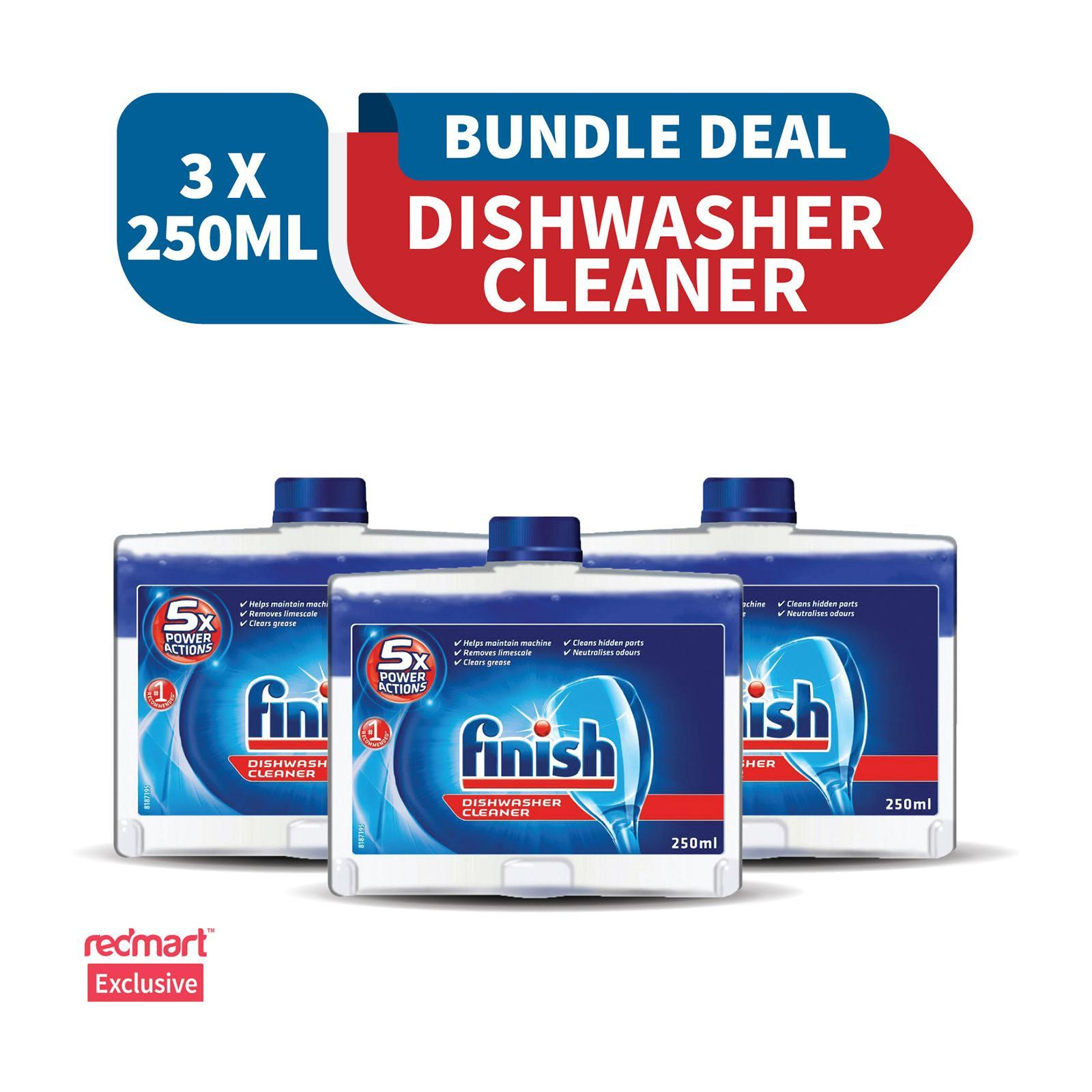 Finish Machine Dishwasher Cleaner 250 ML x 3