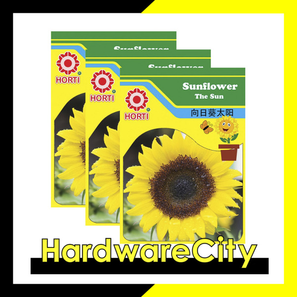 Horti Flower Seeds Sunflower The Sun (3 PACKETS) [HWC-075]