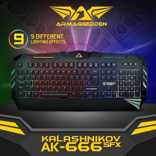 Armaggeddon AK-666FX Gaming Keyboard with Multi Backlit Singapore