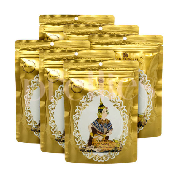 Buy 10 Pack Free 2 Pack Original Thailand Gold Princess Royal Detoxification Foot Patch (Total 60 Pair) Singapore